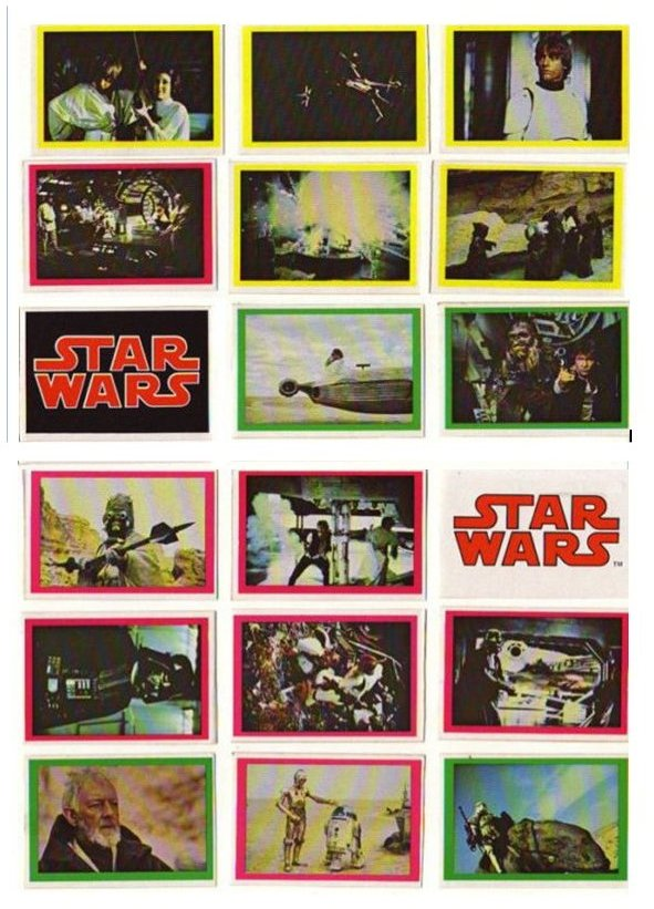 Unusual vintage Star Wars Cards and stickers